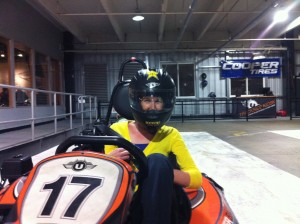 change-your-life, doing something scary - gokarting