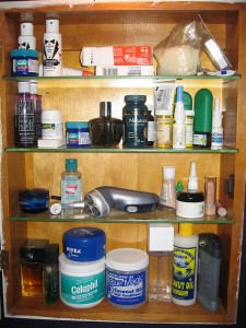 cosmetics - photo of medicine cabinet